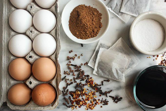 Szechuan Tea Eggs | eatfirstworrylater.com
