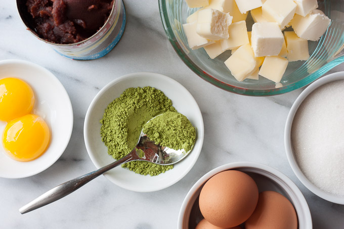 Green Tea & Red Bean Cake  | eatfirstworrylater.com