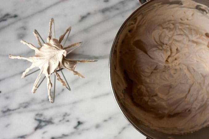 Mocha Cake & Espresso Whipped Cream | eatfirstworrylater.com