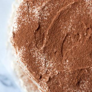 Mocha Cake & Espresso Whipped Cream