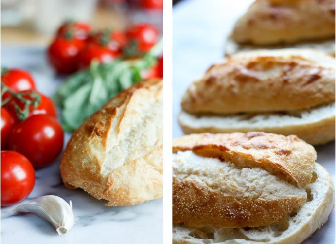 Roasted Garlic Panzanella  | eatfirstworrylater.com
