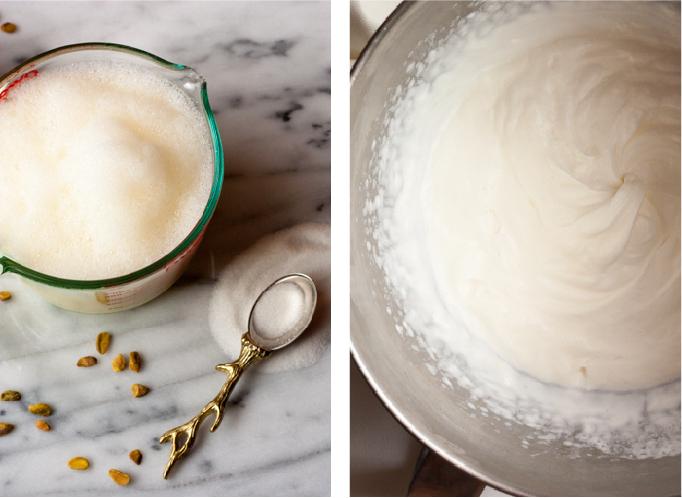 Rosewater, Pistachio, & Sweet Cream Ice Cream | eatfirstworrylater.com