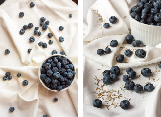 Goat Cheese, Blueberry & Rosemary Ice Cream | eatfirstworrylater.com