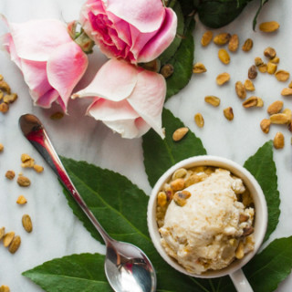 Rosewater, Pistachio, & Sweet Cream Ice Cream
