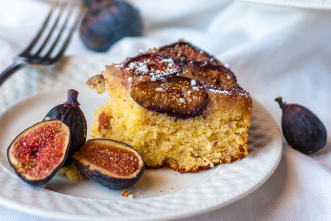 Fig, Almond, & Honey Cake