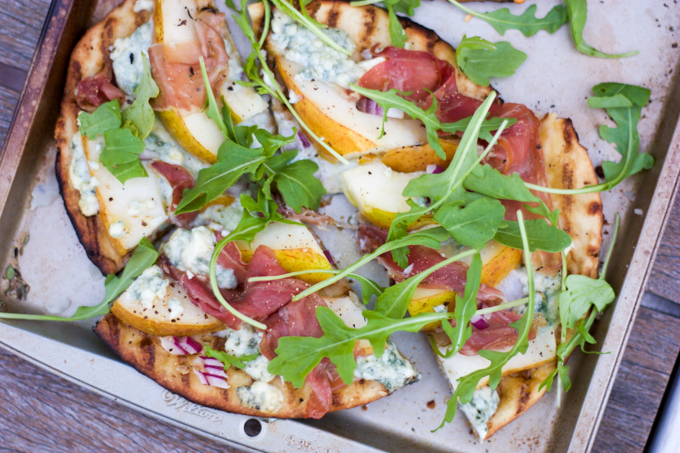 Grilled Pizza, Sriracha Pineapple, & Honeyed Peaches | eatfirstworrylater.com