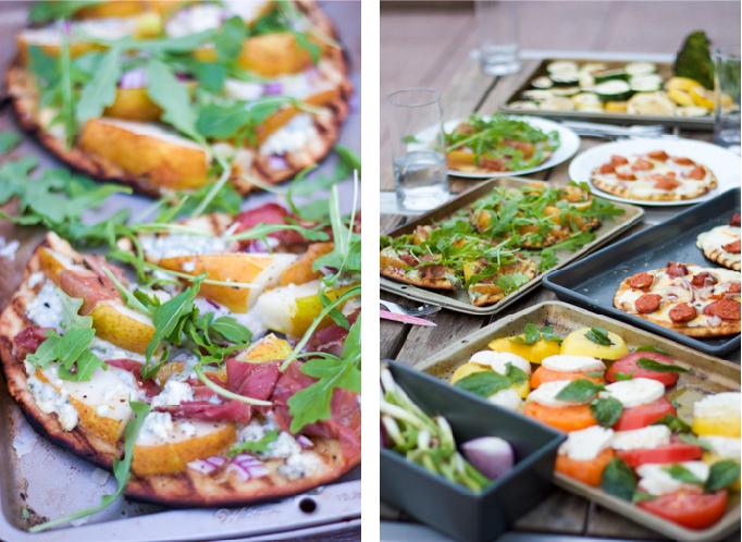 Grilled Pizza, Sriracha Pineapple, & Honeyed Peaches   eatfirstworrylater.com